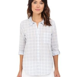 Soft Joie Anabella Check Cotton Shirt Roll Sleeves